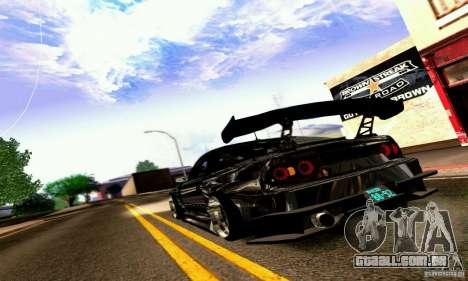 Nissan 180SX Gkon - Drift chrome para GTA San Andreas vista direita