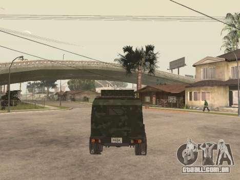 Oshkosh SandCat of Mexican Army para GTA San Andreas vista traseira