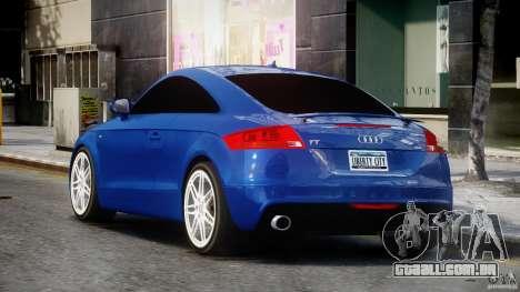 Audi TT RS Coupe v1.0 para GTA 4 traseira esquerda vista