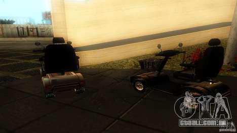 Elektroscooter - Speedy para GTA San Andreas traseira esquerda vista