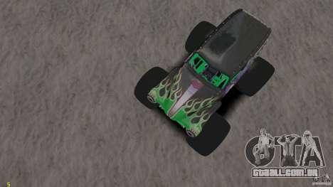 Grave digger para GTA 4 vista interior