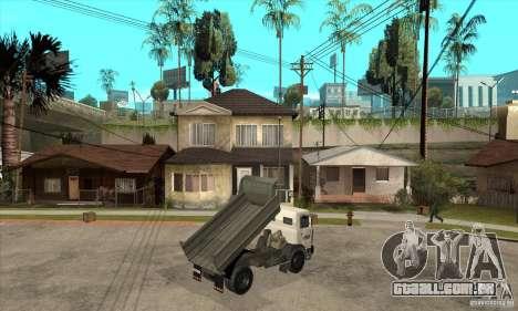 5551 MAZ caminhão para GTA San Andreas vista direita