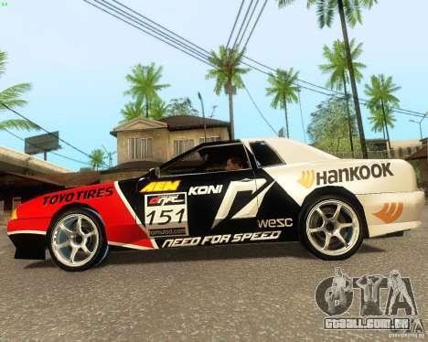 Need for Speed Elegy para GTA San Andreas vista interior
