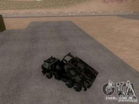 M142 HIMARS Artillery para GTA San Andreas traseira esquerda vista