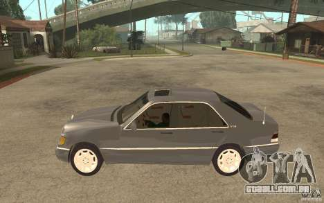 Mercedes-Benz S600 W140 para GTA San Andreas esquerda vista