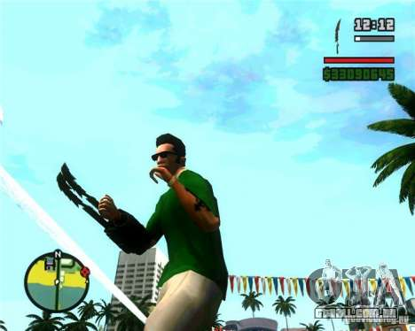 As garras de um predador para GTA San Andreas terceira tela