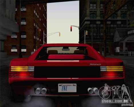Ferrari Testarossa 1986 para GTA San Andreas vista direita