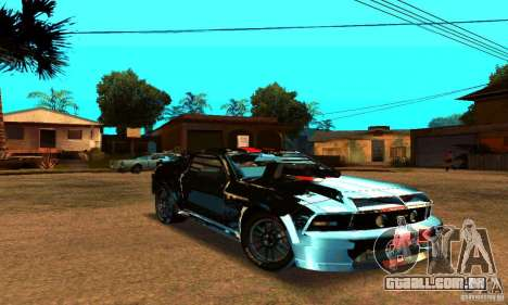 Ford Mustang Shelby GT500 From Death Race Script para GTA San Andreas vista interior