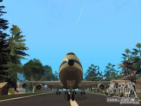Boeing 747-100 Pan American Airways para GTA San Andreas vista traseira