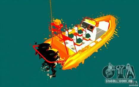 Inferno orange para GTA San Andreas traseira esquerda vista