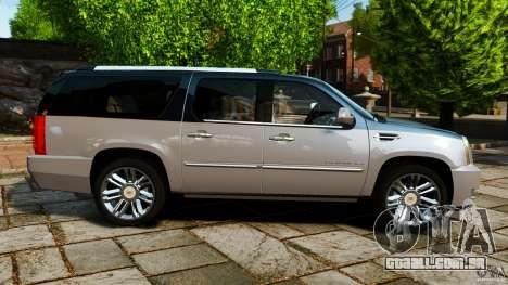 Cadillac Escalade ESV 2012 para GTA 4 esquerda vista
