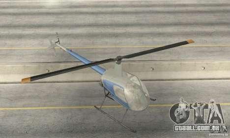 Robinson R22 para vista lateral GTA San Andreas