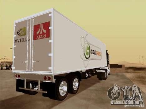 Caband trailer para GTA San Andreas traseira esquerda vista
