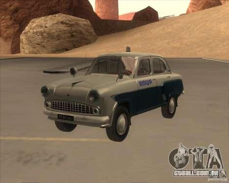 Moskvitch 403 com polícia para GTA San Andreas