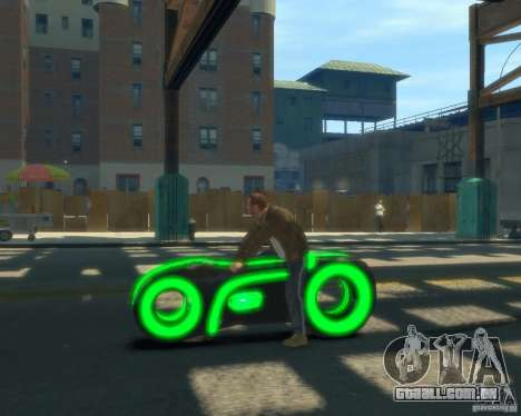 Motocicleta do trono (neon verde) para GTA 4 esquerda vista