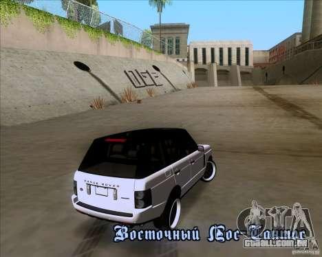 Range Rover Hamann Edition para GTA San Andreas interior