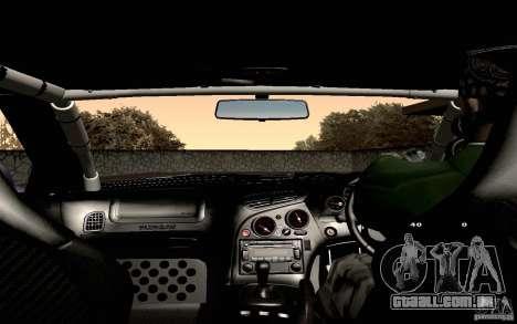 Mazda RX-7 Hellalush para GTA San Andreas vista inferior