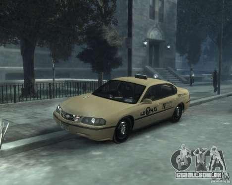 Chevrolet Impala 2003 Taxi para GTA 4 esquerda vista