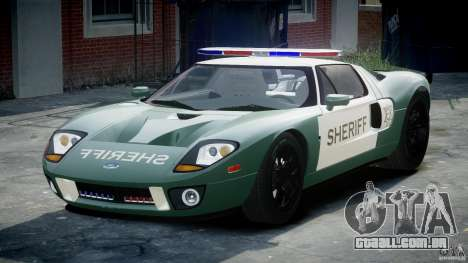 Ford GT1000 Hennessey Police 2006 [EPM][ELS] para GTA 4 vista de volta