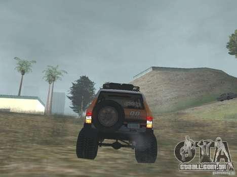 Tornalo 2209SX 4x4 para GTA San Andreas vista traseira
