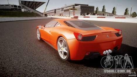 Ferrari 458 Italia 2010 para GTA 4 vista lateral