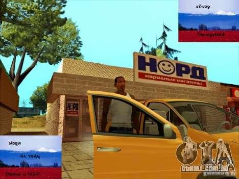 Russas lojas atrás da casa de CJ para GTA San Andreas por diante tela