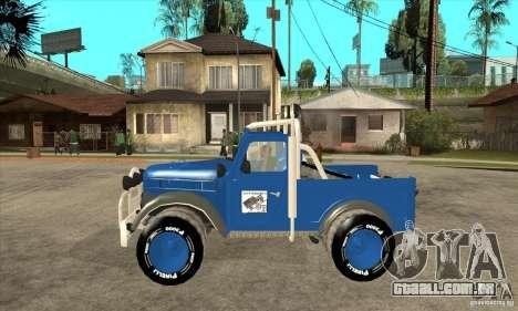 Aro M461 - Offroad Tuning para GTA San Andreas esquerda vista
