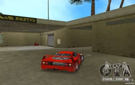Ferrari F40 para GTA Vice City vista traseira