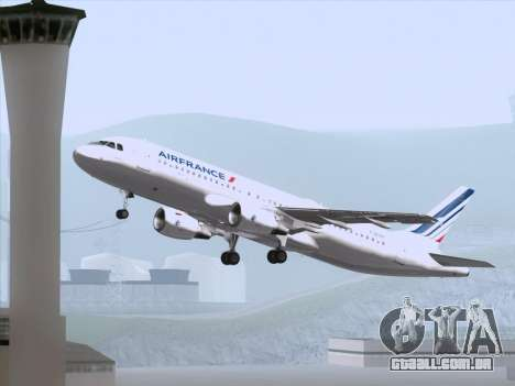 Airbus A320-211 Air France para o motor de GTA San Andreas