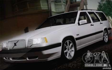 Volvo 850 Estate Turbo 1994 para GTA San Andreas traseira esquerda vista