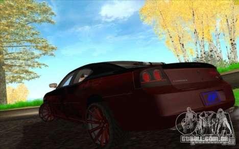Dodge Charger SRT 8 para GTA San Andreas interior