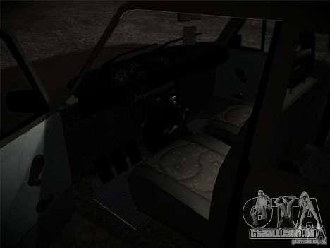 Tofas 124 Serçe para GTA San Andreas vista traseira