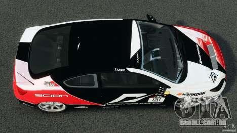 Scion TC Fredric Aasbo Team NFS para GTA 4 vista direita