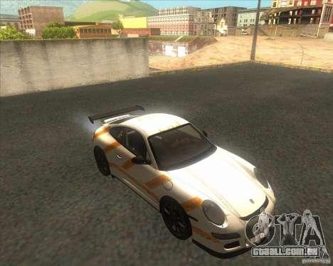 Porsche 997 GT3 RS para GTA San Andreas vista direita
