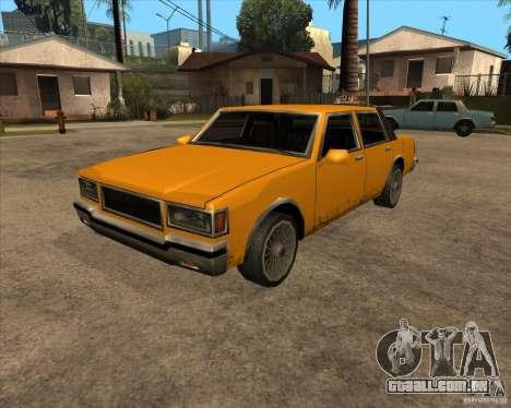 New Greenwood para GTA San Andreas traseira esquerda vista