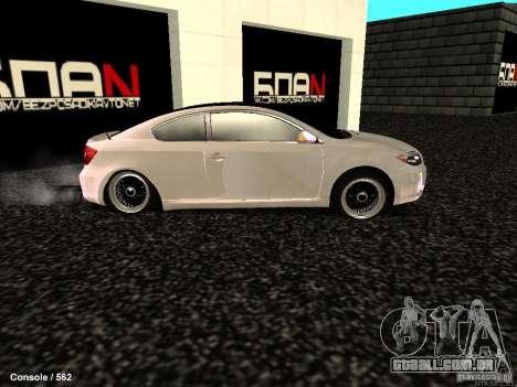Toyota Scion para GTA San Andreas esquerda vista