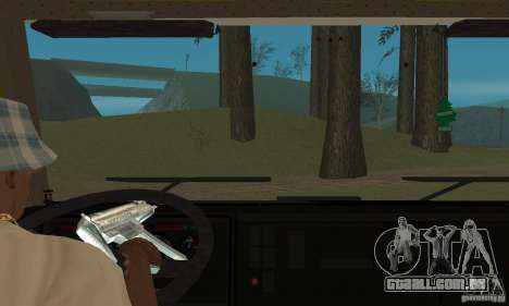 KAMAZ 5460 pele 3 para GTA San Andreas vista interior