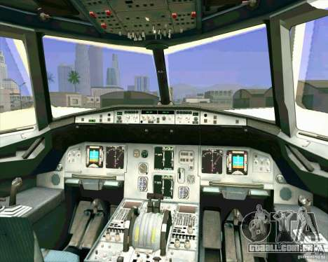 Avião Airbus A-320 UTair para GTA San Andreas vista inferior