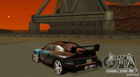 Mitsubishi Eclipse Elite para GTA San Andreas vista traseira
