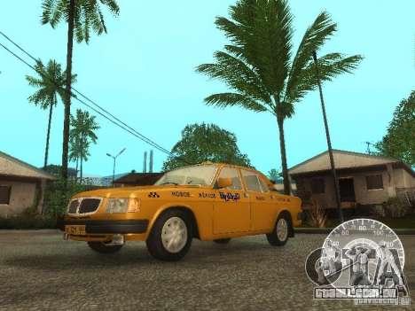 Táxi de GAZ 3110 Volga para GTA San Andreas