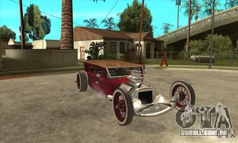 HotRod sedan 1920s no extra para GTA San Andreas vista traseira