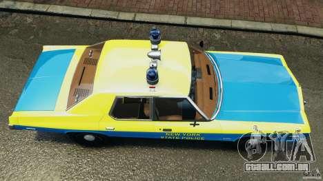 Dodge Monaco 1974 Police v1.0 [ELS] para GTA 4 vista direita
