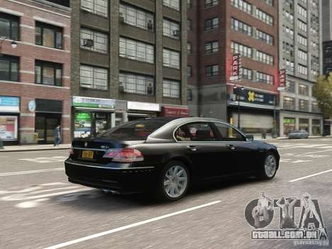 BMW 7 Series E66 2011 para GTA 4 vista lateral