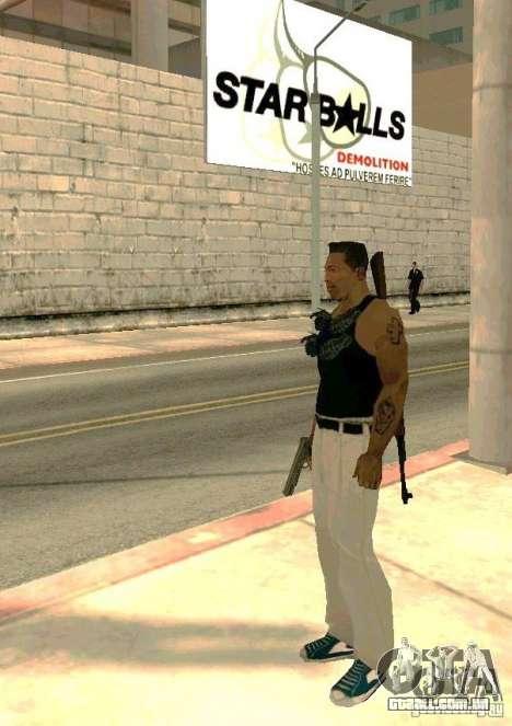 Armas no corpo para GTA San Andreas terceira tela