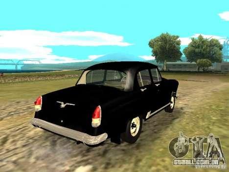 GÁS-21r para GTA San Andreas traseira esquerda vista