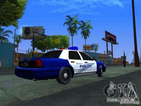 Ford Crown Victoria Belling State Washington para GTA San Andreas traseira esquerda vista
