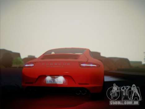 Porsche 911 (991) Carrera S para GTA San Andreas vista direita