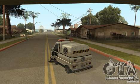 Varredor de rua de trabalho para GTA San Andreas segunda tela