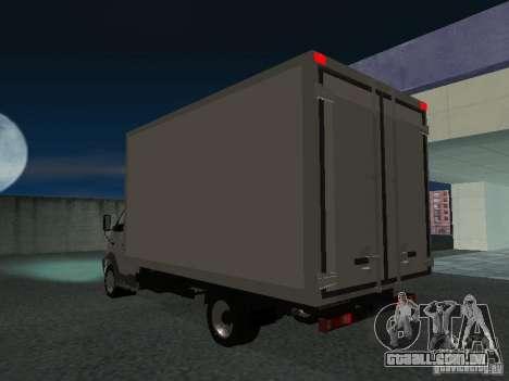 33102 Valday GAZ (longo) para GTA San Andreas traseira esquerda vista