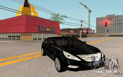 Hyundai Sonata 2012 para GTA San Andreas traseira esquerda vista
